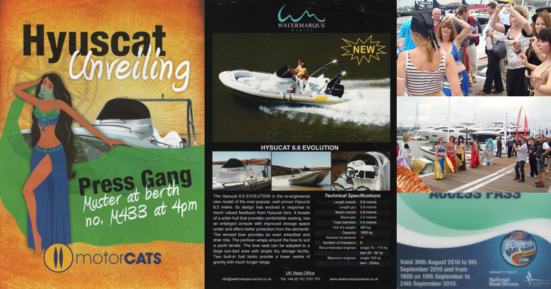 Product launch in association with Motorcats at Southampton Boat Show