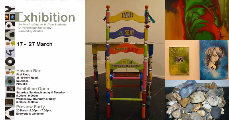 Art exhibition in association with Portsmouth University
